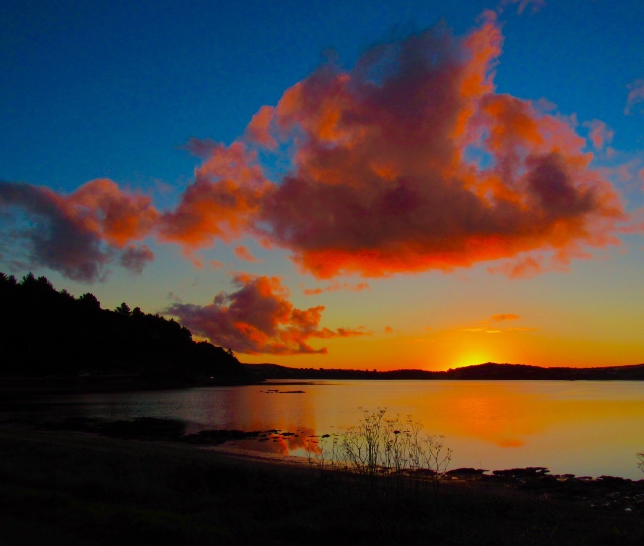 Parramatta Inlet, sunset over calm waters