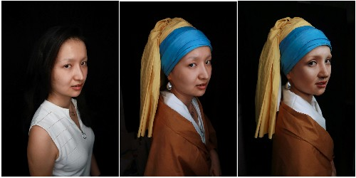 Masterpiece theater: Chinese make-up artist brings paintings to life