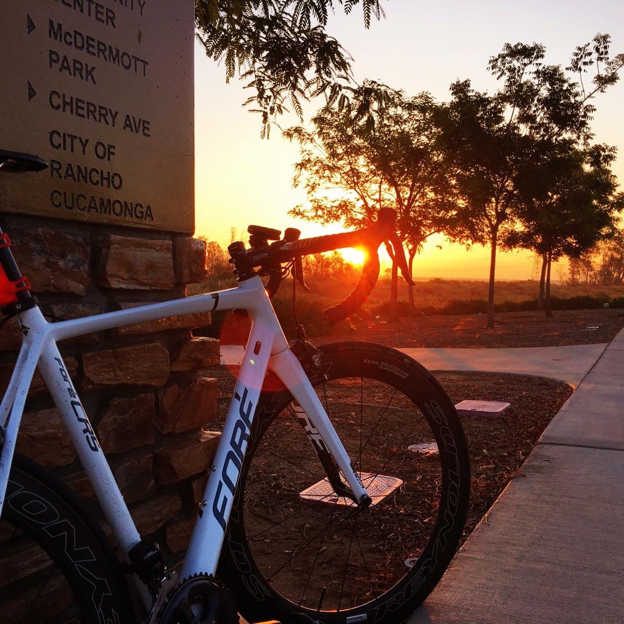 Sunrise on my bike.