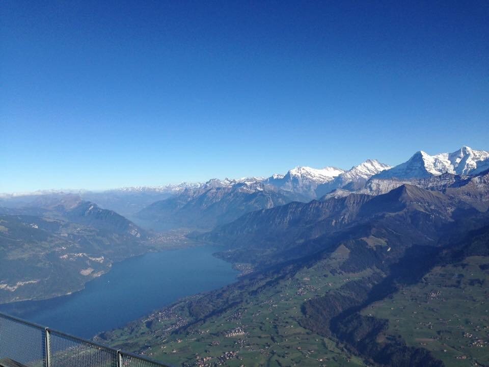 Swiss, view at the Thunersee.