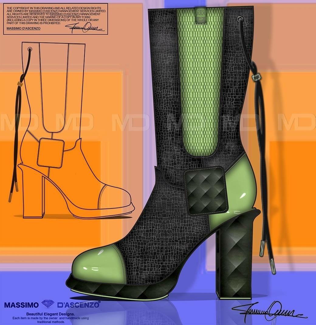 'MD' Massimo D'ascenzo Beautiful Designs. MUMIT FOOTWEAR BY Massimo D'ascenzo. 'MUMIT' - Colours. Winter Boots. Instagram@massimodascenzo www.massimod.com #luxury#jewellery#handbags#love#fashionAddict. Massimo-Dascenzo-Luxury-Jewellery-Handbags/485052561622939?ref=hlj