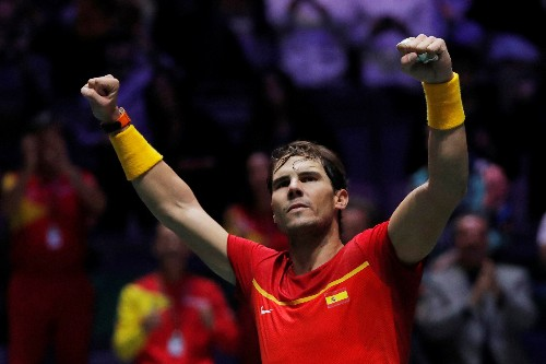 Weary Nadal stays the course as Spain reach Davis Cup final
