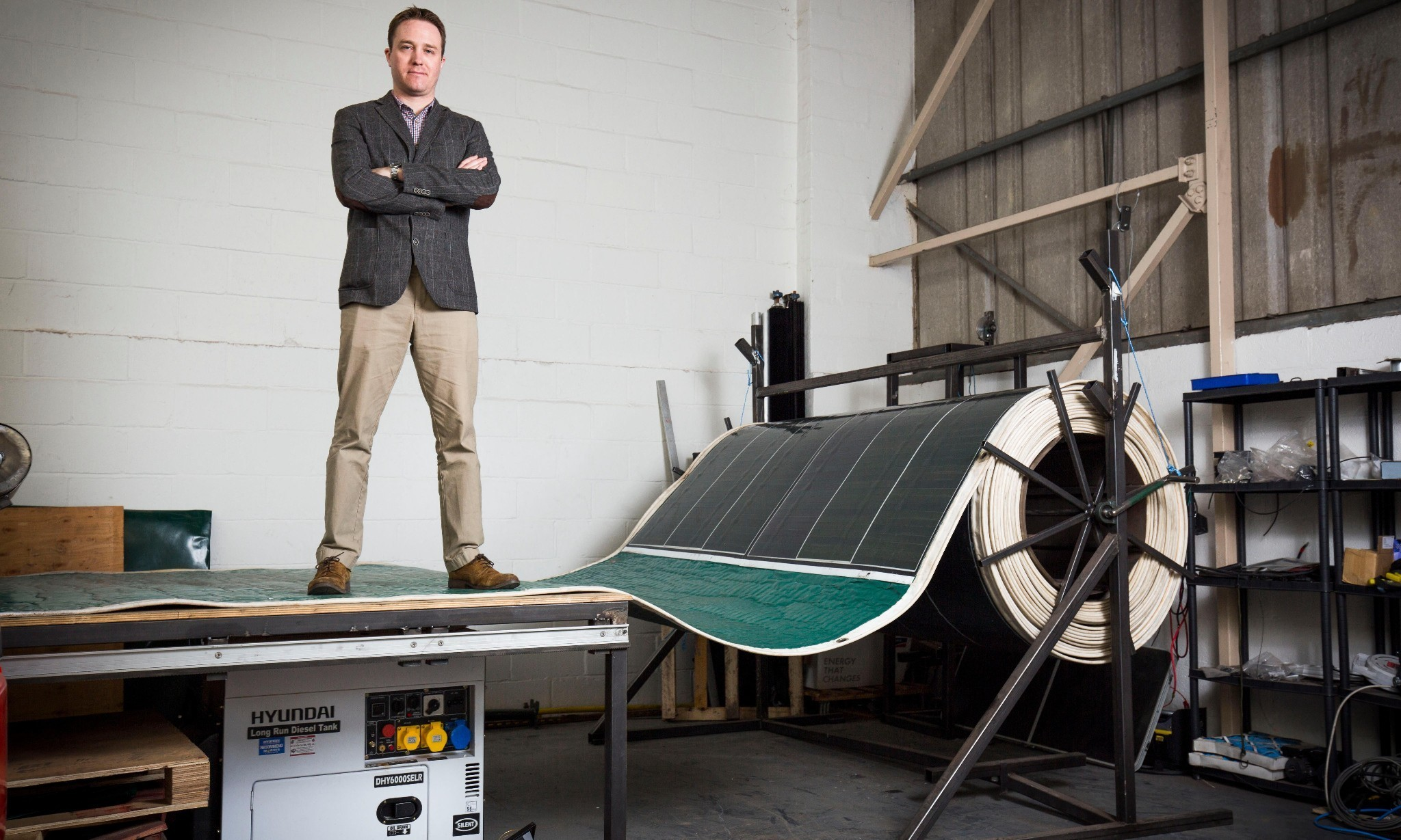 The innovators: portable solar panels that can be unrolled like a carpet