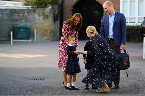 Britain's Princess Charlotte, 4, starts school