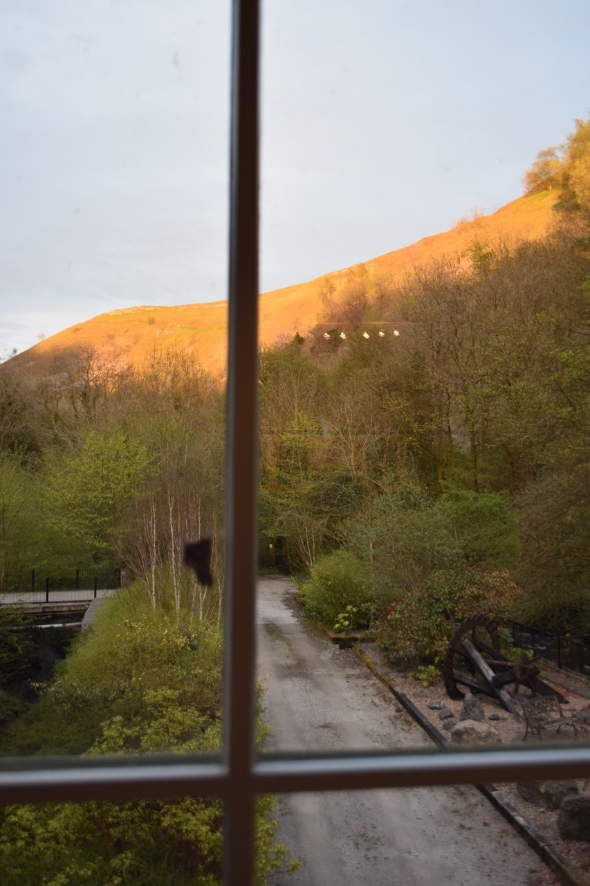 View out our window at Litton Mill in The Peaks.