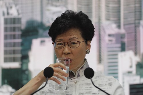 The Latest: China expresses support for Hong Kong leader