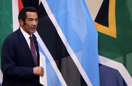 Former Botswana president quits ruling party in row with ex-ally