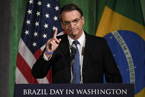 Brazil's far-right president visits CIA on first US visit