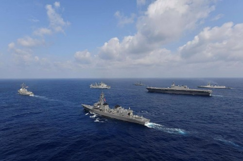 U.S., Japan, India and Philippines challenge Beijing with naval drills in the South China Sea