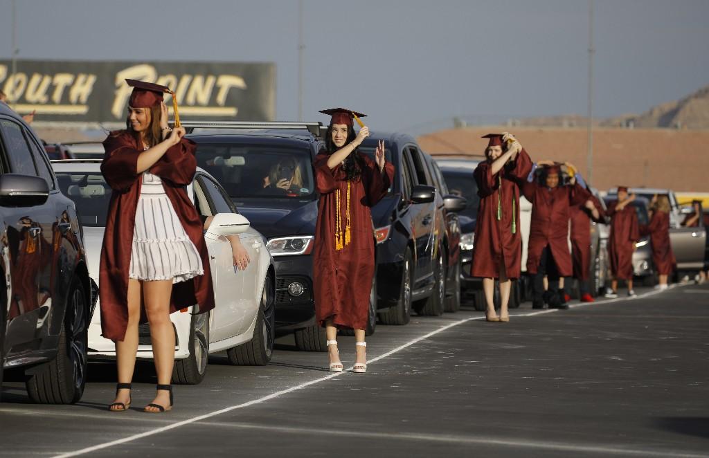 Seniors get diplomas on racetracks, chairlifts amid virus