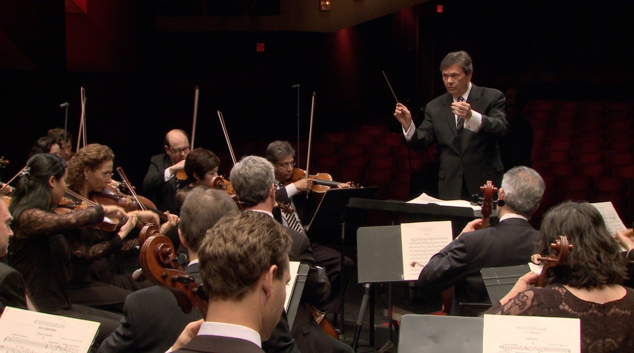 Music Director Gerard Schwarz leads the orchestra he founded.