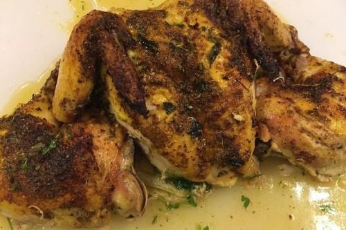 Pucker-Up Lemon Sumac Chicken with Lemon Herb BoardSauce