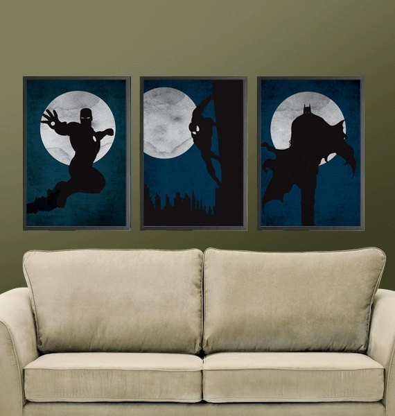 Superheroes Posters - Set of 3 Posters