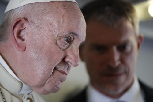 Pope says US critics use 'rigid' ideology' to mask failings