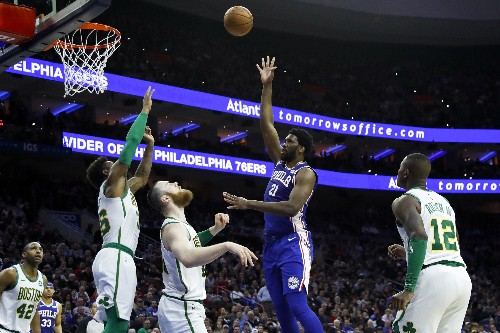 Embiid gets 37 and 22 to lead 76ers past Celtics 118-115