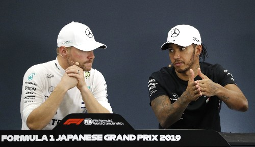 Bottas wins in Japan, Mercedes celebrate six title doubles