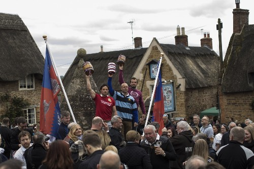 The Ancient Custom of the Hare Pie Scramble and Bottle Kicking: Pictures