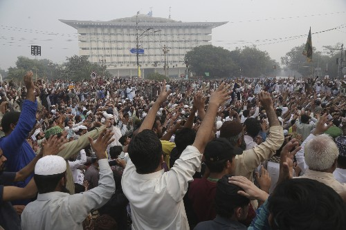 The Latest: Lawyer in blasphemy case flees Pakistan