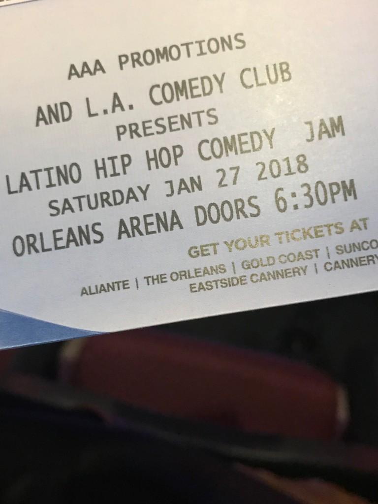 Latino/Comedy Jam - Magazine cover