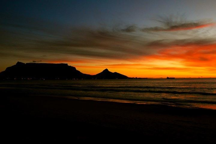 Capetown at sunset: South Africa