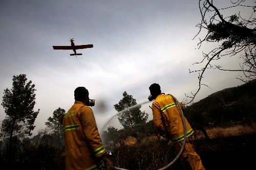 Europeans and Egypt send air support as Israel battles wildfires