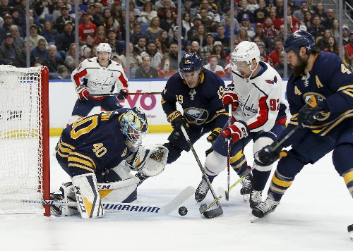 Reinhart posts hat trick as Sabres handle Capitals