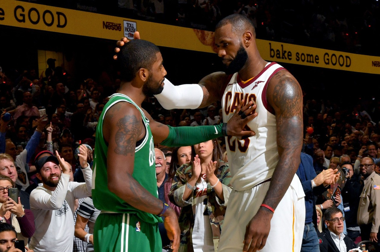 Kyrie Left Lebron before Lebron bolted