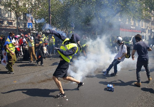 The Latest: French protesters demand attention from Macron