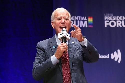Biden's LGBTQ record draws scrutiny at Iowa presidential forum