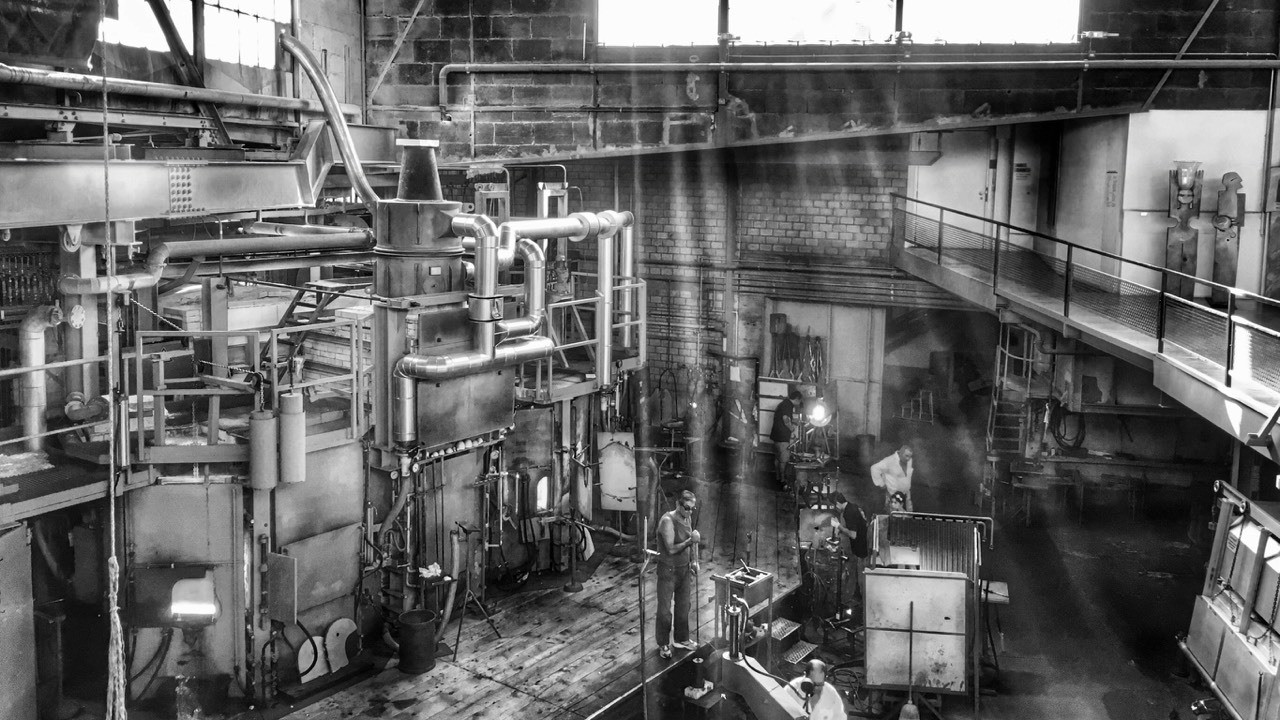Took this picture in Switzerland. One of the oldest glas factory. Like the black and white pic.