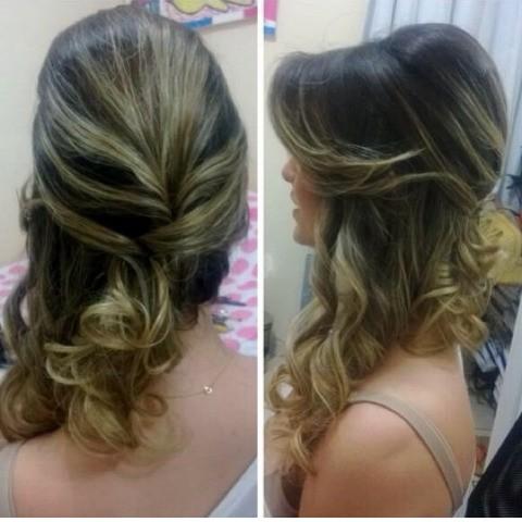Lindo penteado para noivas!