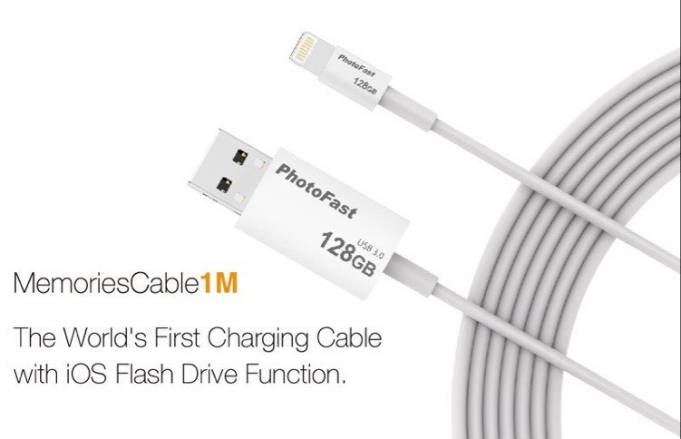 First cable lighting with iOS flash drive @applelianos