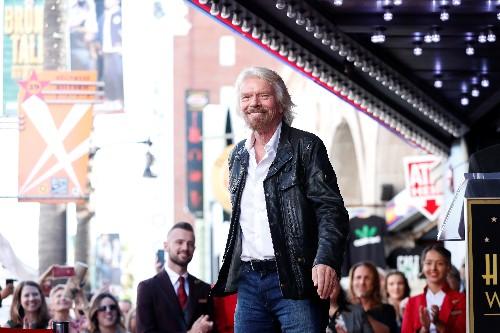 Richard Branson recalls rock 'n roll days as gets Hollywood star