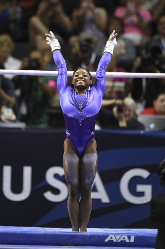 Biles Leads After Day 1 of US Gym Trials: Pictures
