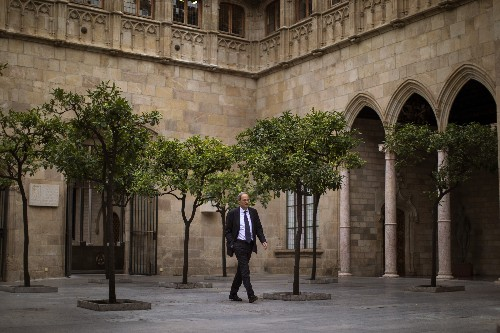 Spanish leader Sánchez visits embattled Barcelona