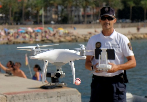 Spanish police try out drones to patrol beaches