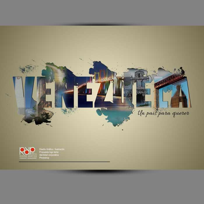 """#DiseñoGrafico #rrpccsdigital Propuesta logo tema corporativo / """"VENEZUELA"""" Photoshop"""