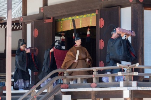 Donning elaborate robes, Japan's new imperial couple hold Shinto rite