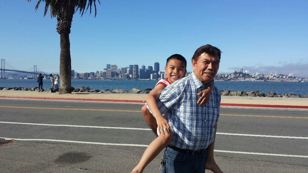 Bonding with my dad.
