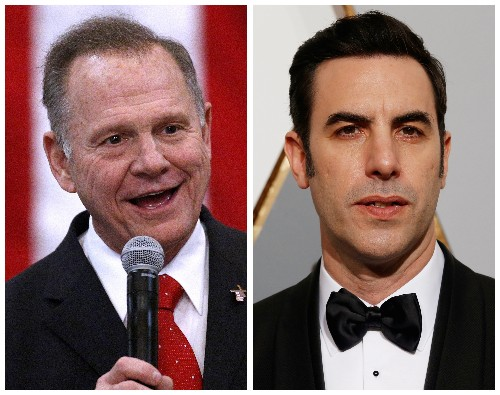 Roy Moore sues Sacha Baron Cohen, Showtime, CBS in $95 million defamation case