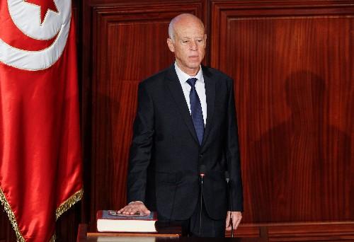 Political outsider Kais Saied sworn in as Tunisia's new president