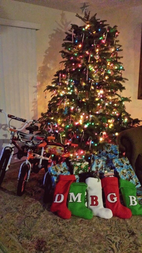 Santa left lots of presents for the boys this year.