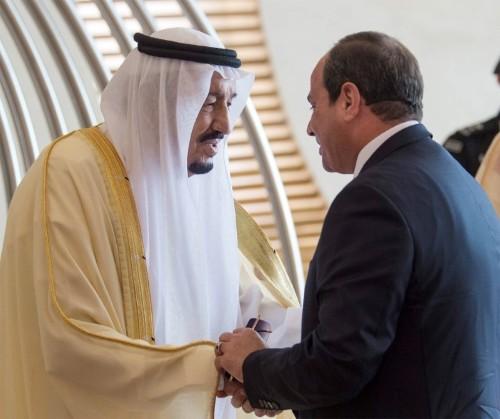 العاهل السعودي يلتقي مع الرئيس المصري في نيوم