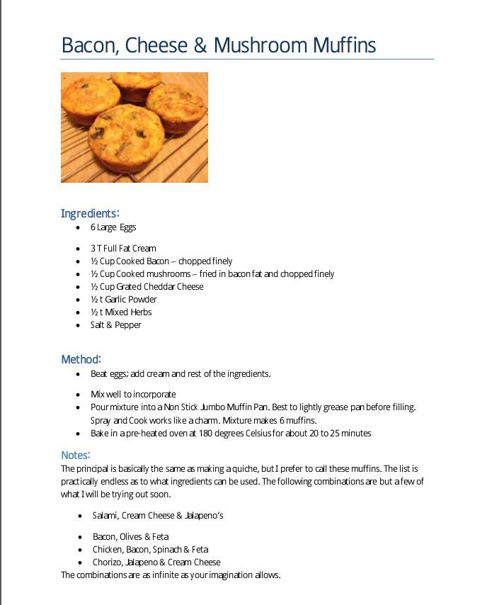 Savoury egg muffins