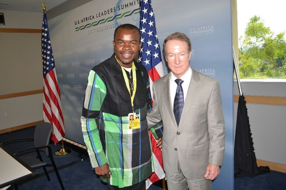 Boniface Ihiasota Publisher Excel Magazine Internatio and Nacotis Official In White House Washington DC during the US African Leaders Summit - Magazine cover