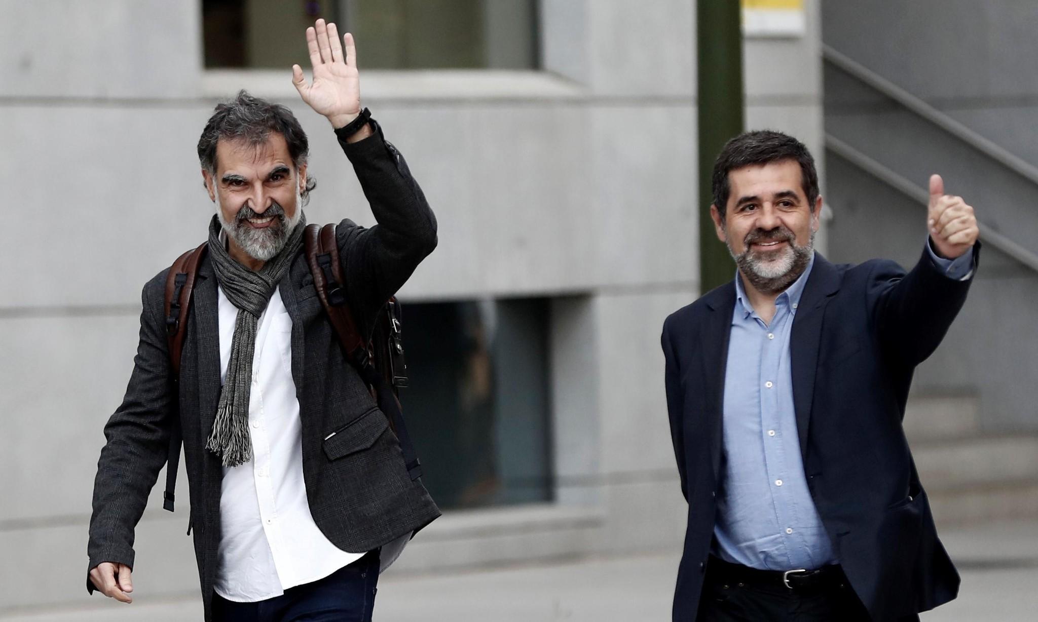 Madrid jails Catalan separatist leaders pending investigation