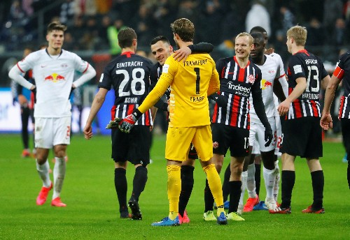 Bundesliga leaders Leipzig slump to 2-0 defeat in Frankfurt