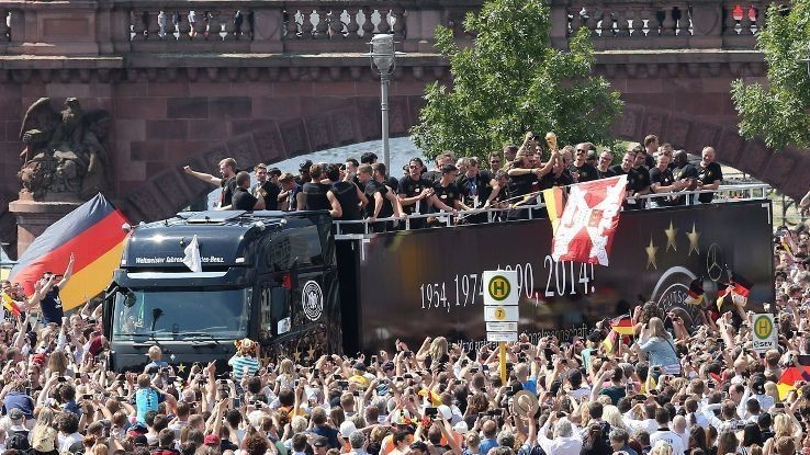 Germany given heroes' welcome home