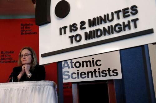 Nuclear, climate threats keep Doomsday Clock close to apocalypse