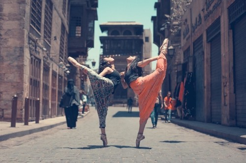 Women Reclaim The Streets Of Cairo Through Stunning Ballet Photos